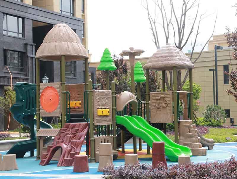 Outdoor baby toy set combination general models children slide play land equipment