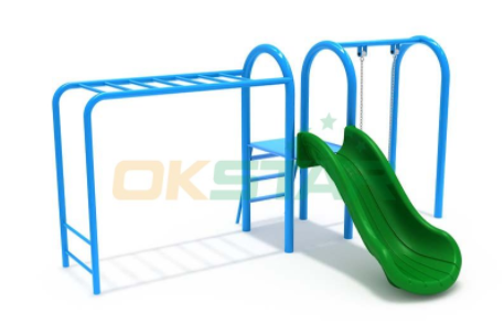 climbing set with slide