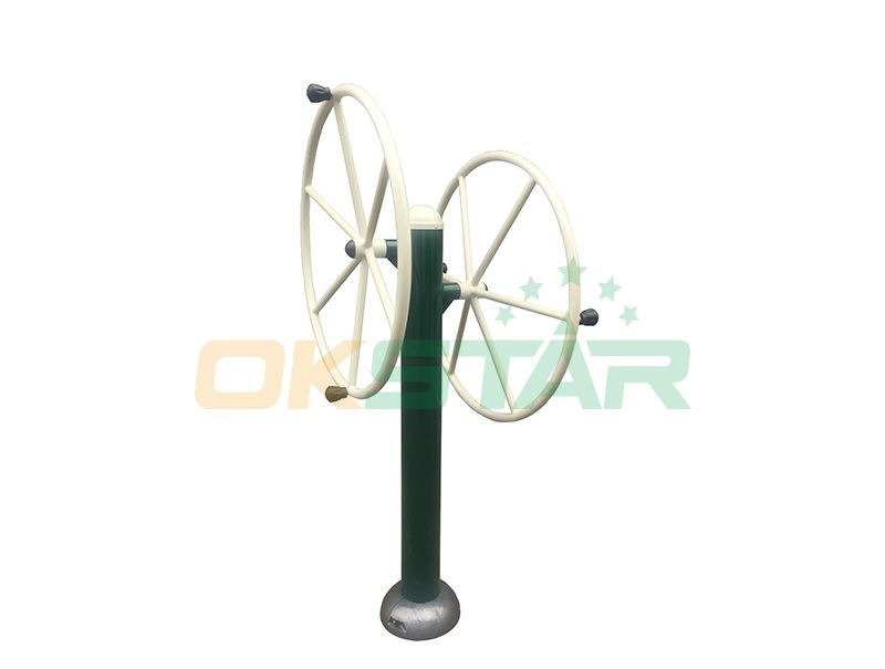 ST-J01X TUV certified outdoor fitness products Rotating Wheel