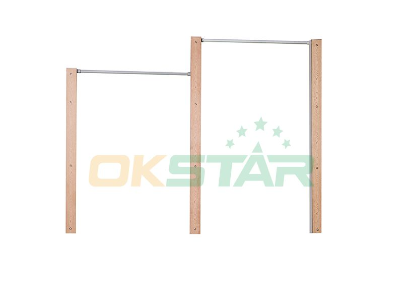 LK-D01 wpc outdoor exercise equipment Horizontal Bars(Double-unit)