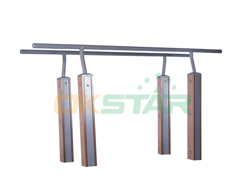 LK-S04 wpc outdoor exercise equipment Parallel Bars