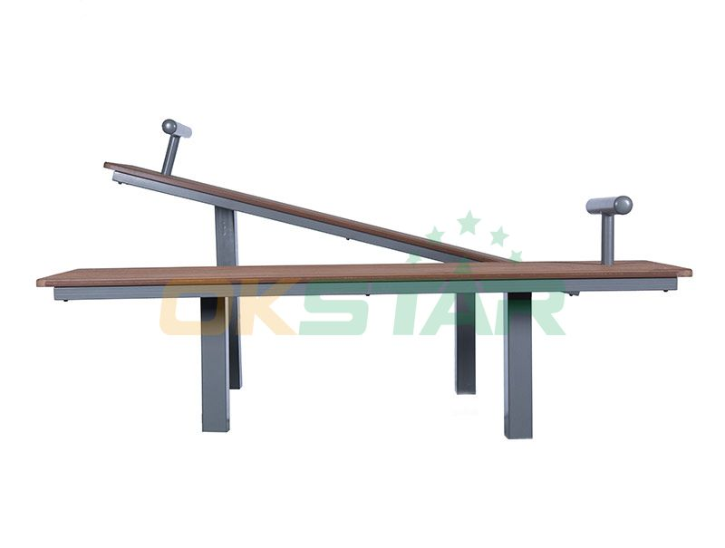 LK-F01 wpc outdoor exercise equipment Sit-up Board(Double)