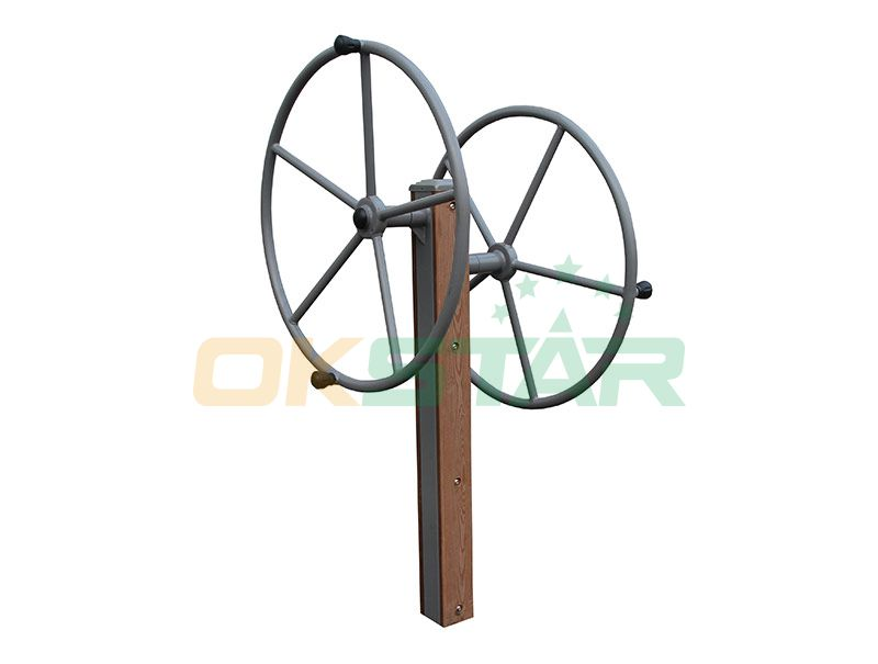 LK-J01 wpc outdoor exercise equipment Rotating Wheel