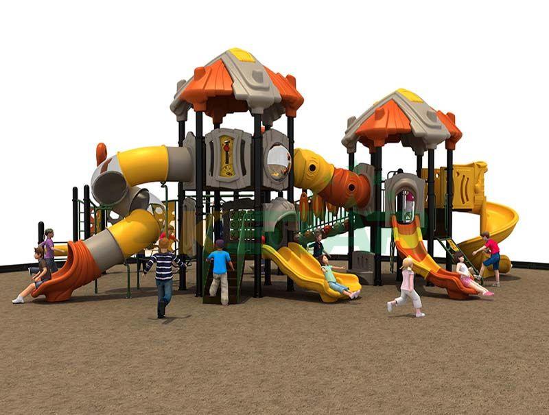 Jungle gym in playground