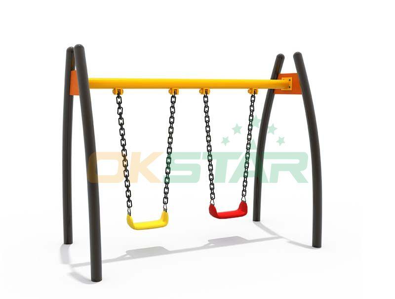commerical swing sets metal frame