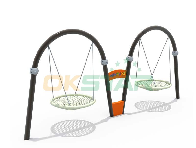 playground swing with double sets