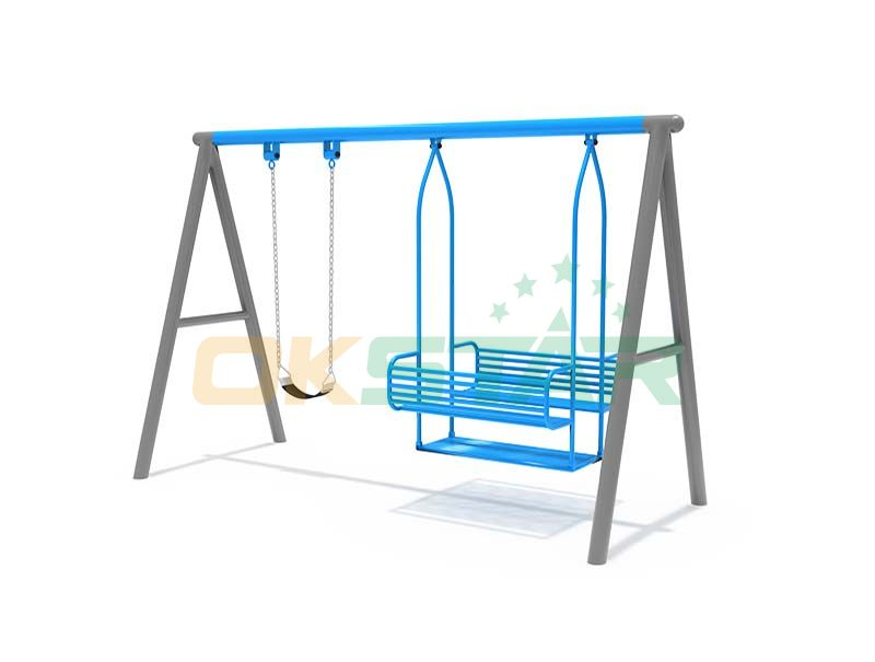 outdoor commercial swing set with chair