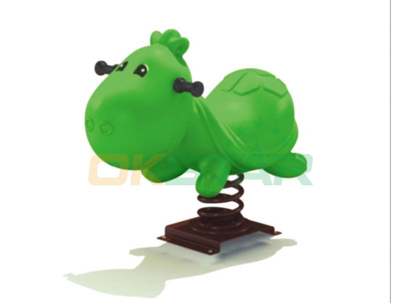 green sheep design playground outdoor spring toy rider animal