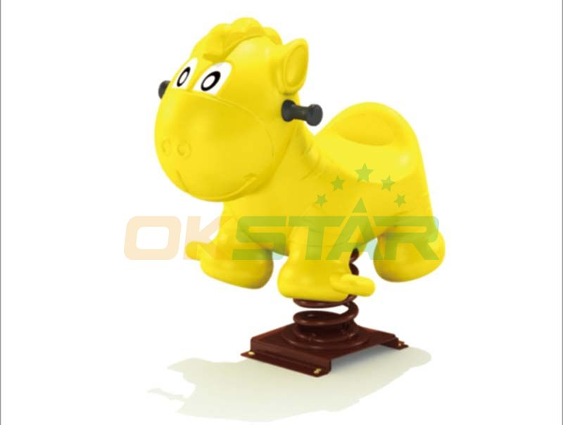 yellow cute dog playground spring rider china Playground