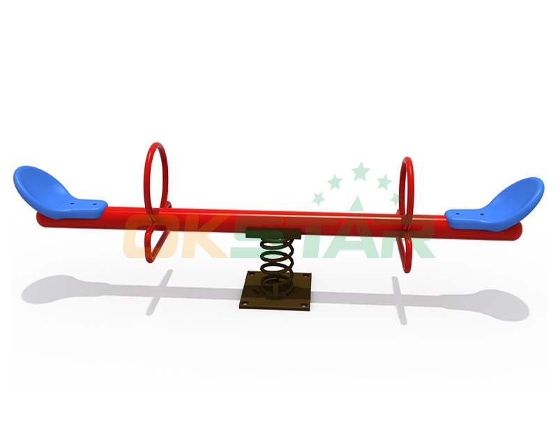 Galvanized playground top quality seesaw