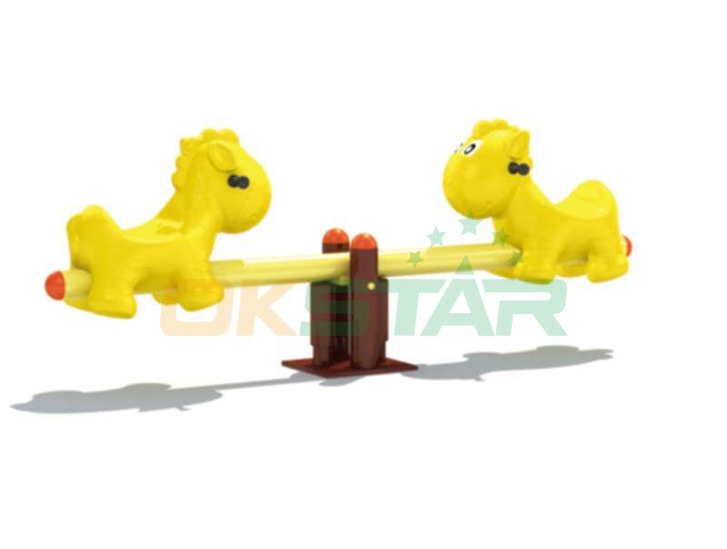 plastic playground animal type Outdoor seesaw