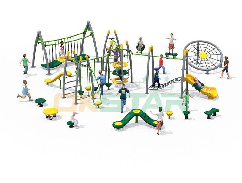 Outdoor gym equipment children