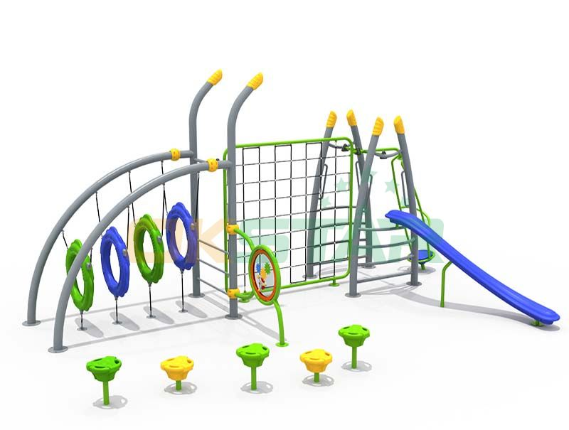 Outdoor gym playground are an integral part of childhood development