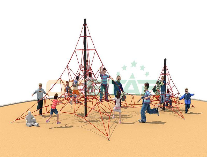 Kids Outdoor Playground Cliimbing Playground Climbing Rope Net Children Play Equipment