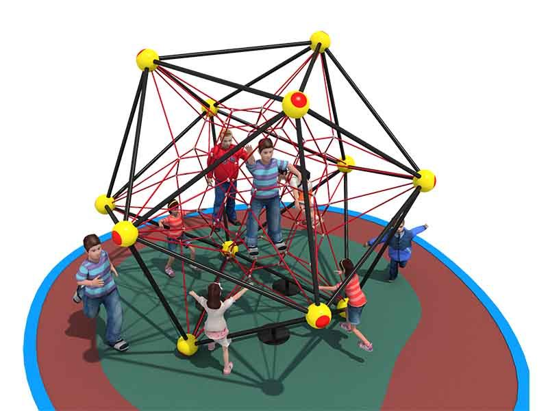 Kids outdoor playground equipment integration training rope Climbing