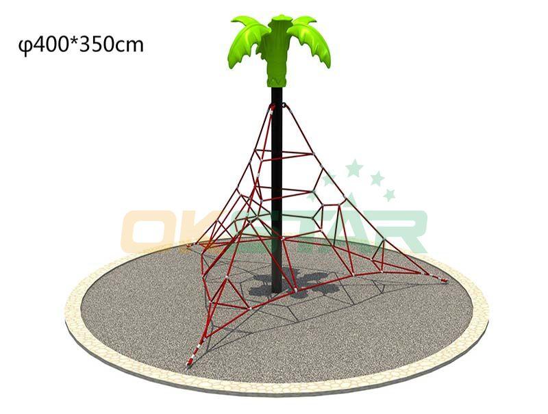 outdoor playground rope climbing net playground for kids