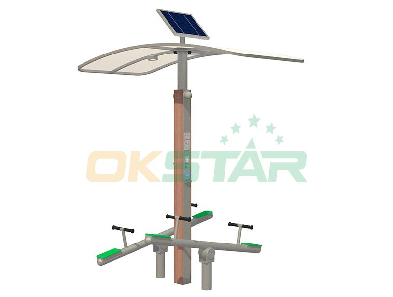 ISO approved outdoor gym equipment Seesaw for children