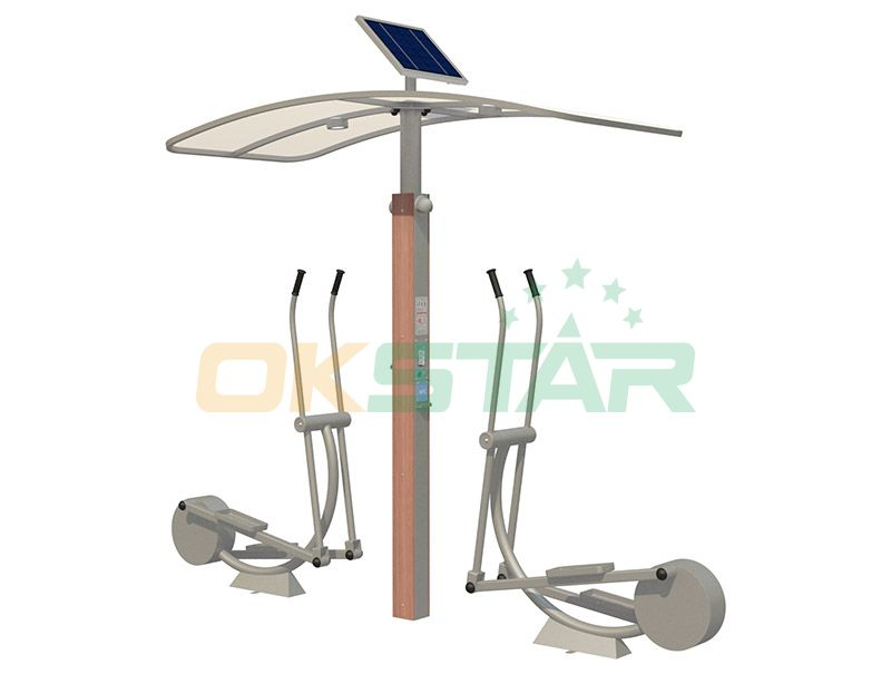 ISO approved outdoor gym equipment Elliptical trainer