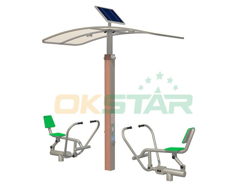 ISO approved outdoor gym equipment Rower
