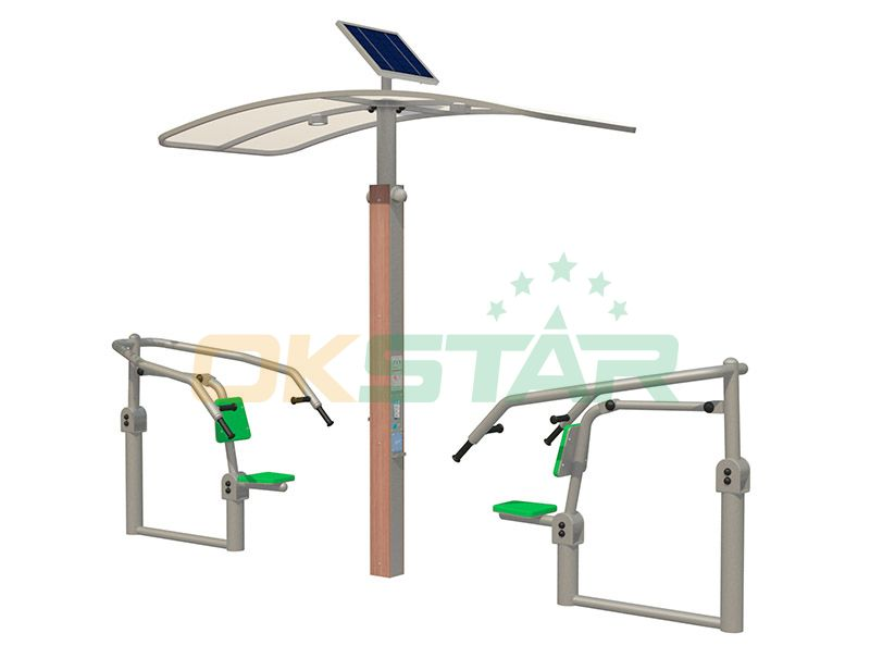 ISO approved outdoor gym equipment Push-up Chair