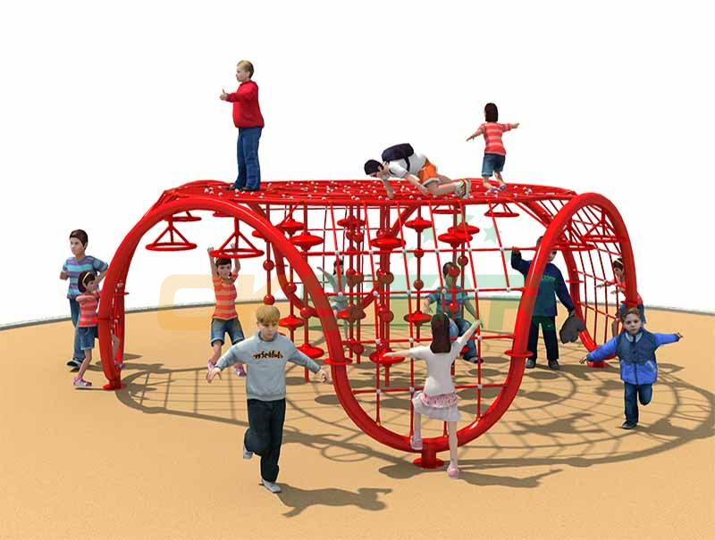 Net Rope Climbing Top Quality Steel Strips Inside Net Climbing Facility Best Price Physical Playground