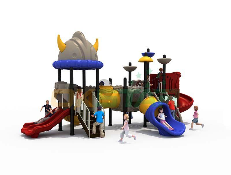Children climbing playground