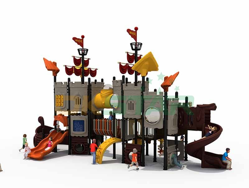 Ship outdoor play structure systems