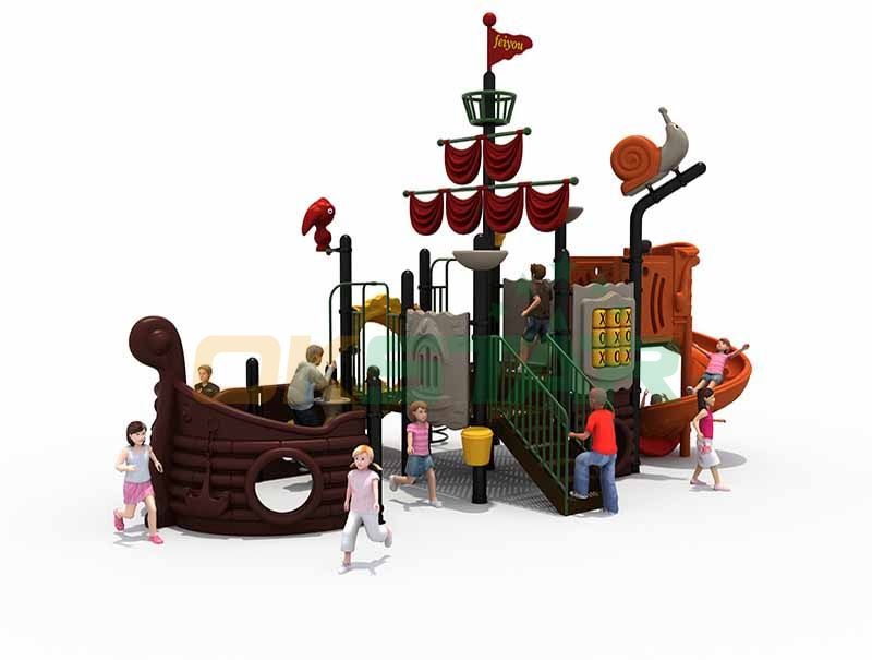 Ship attraction amusement equipment