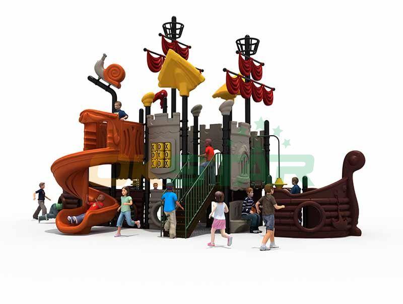 Slide children outdoor play structure