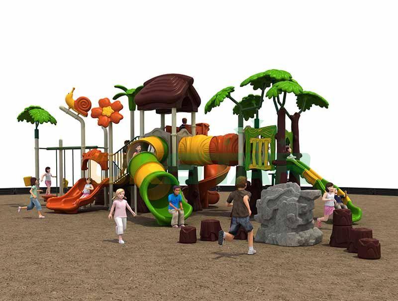 kids tunnel slide playground equipment