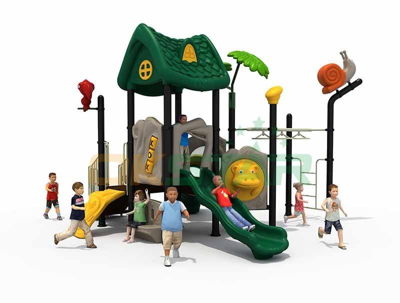 Large amusement park water slide