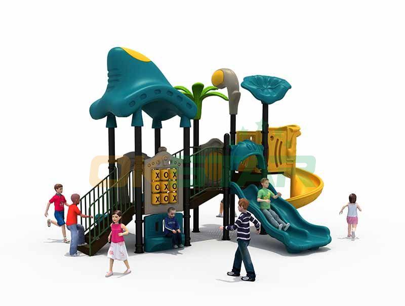 Playground equipment roller slides
