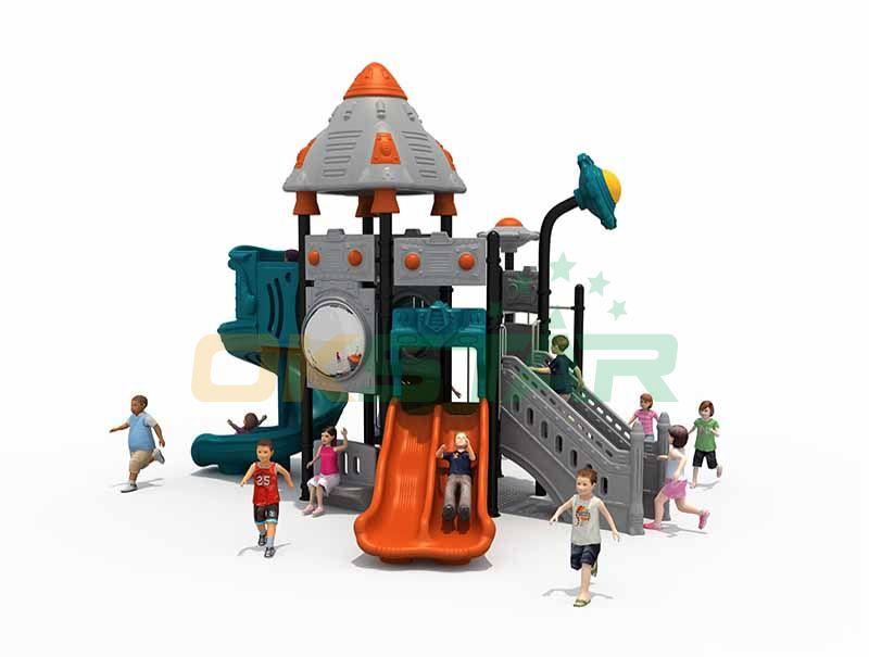 Plastic straight slides for kids