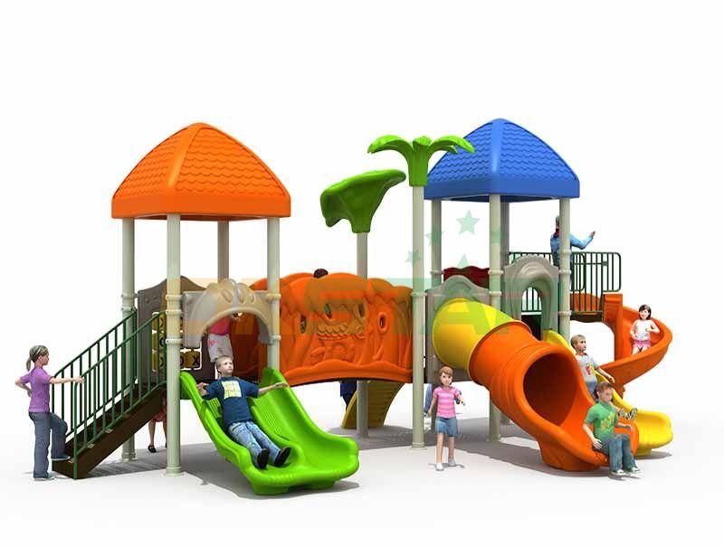 Hot sale plastic playground children outdoor playground equipment park slide