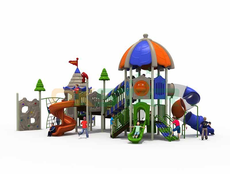 Outdoor playground plastic slide play sets