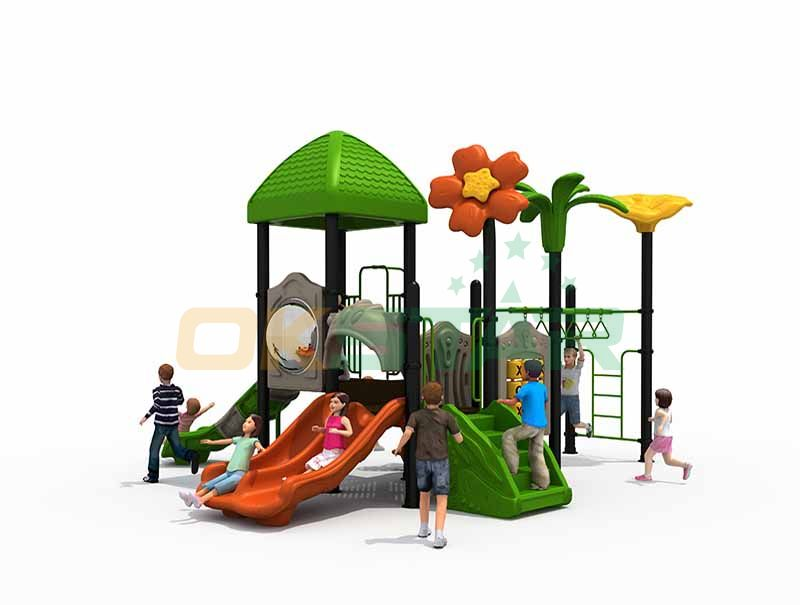 Jungle theme outdoor play equipment