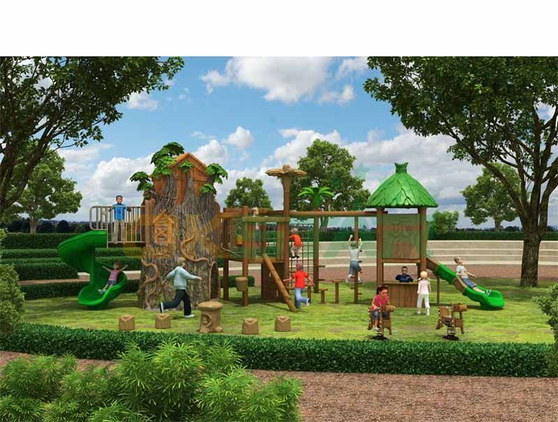 Climbing series with FRP tree house and playground sets family fun center