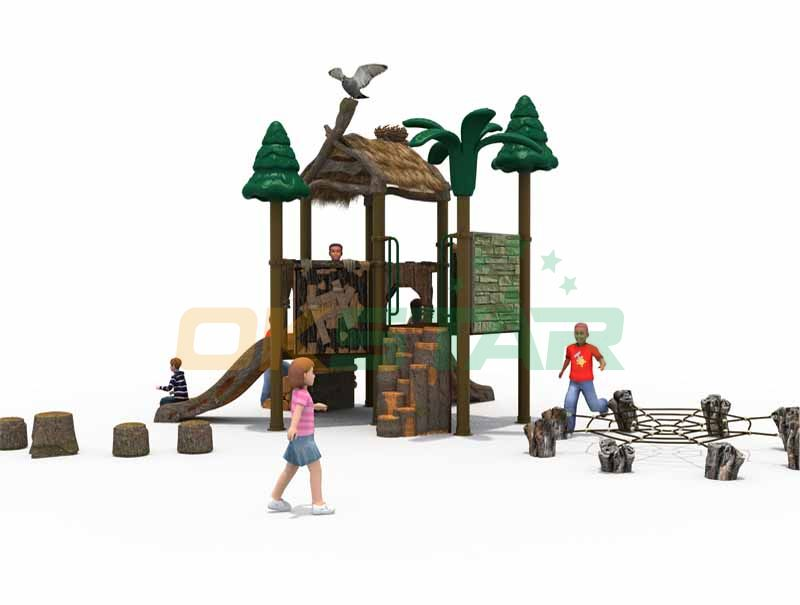 New spider design foot pier forest style for mini playground equipment safe play