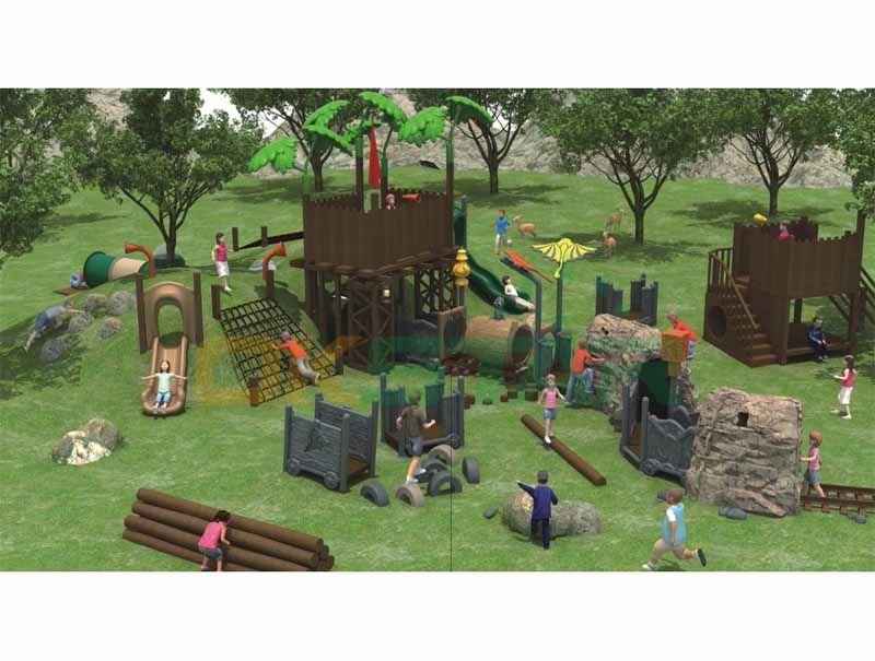 Mine cool design with multifunctional function playground sets