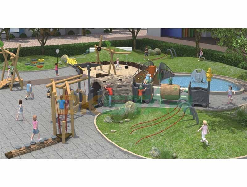 garden plastic playground slide with all kids exercise event for children