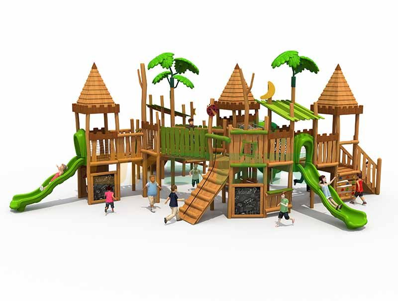 outdoor wood house kids playground