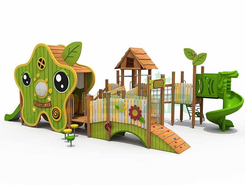 wooden starflower playground wooden playground equipment wooden outdoor playground