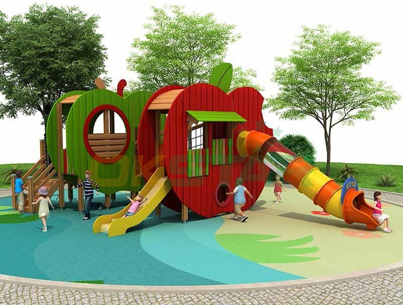 wooden outdoor playground