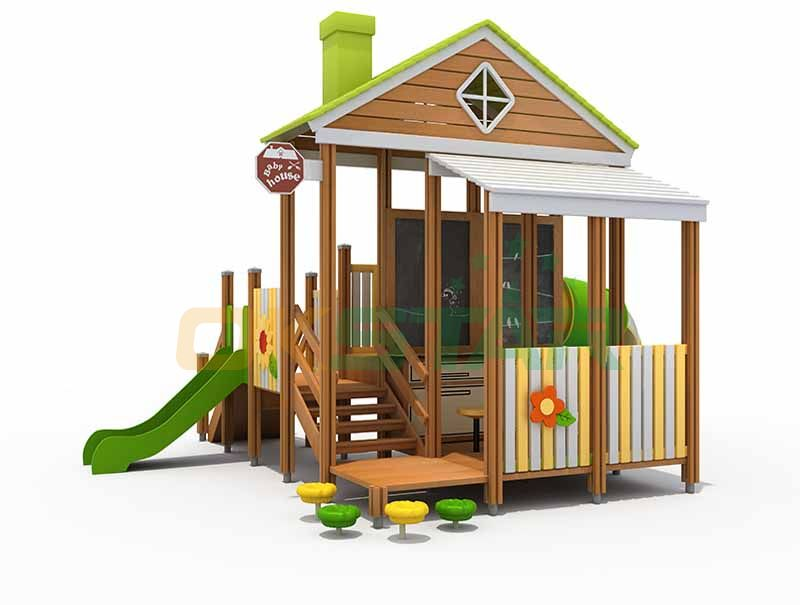 children wooden playground outdoor
