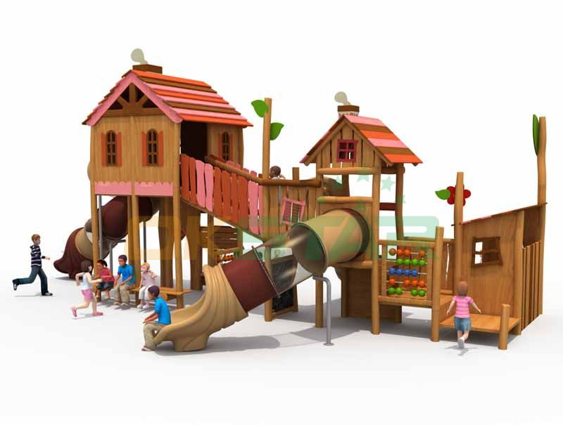outdoor game school wooden play system