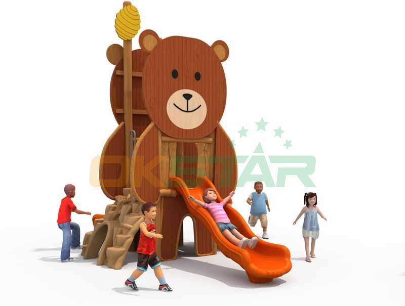 Outdoor wooden playground cheap equipment for kindergarten facilities