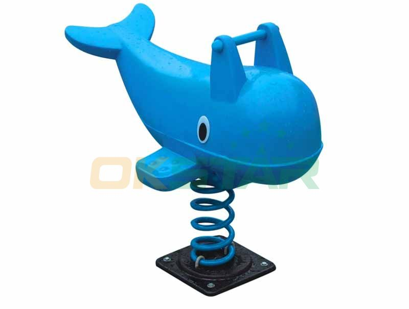 sea-dolphin ride-on kids toy for playground park