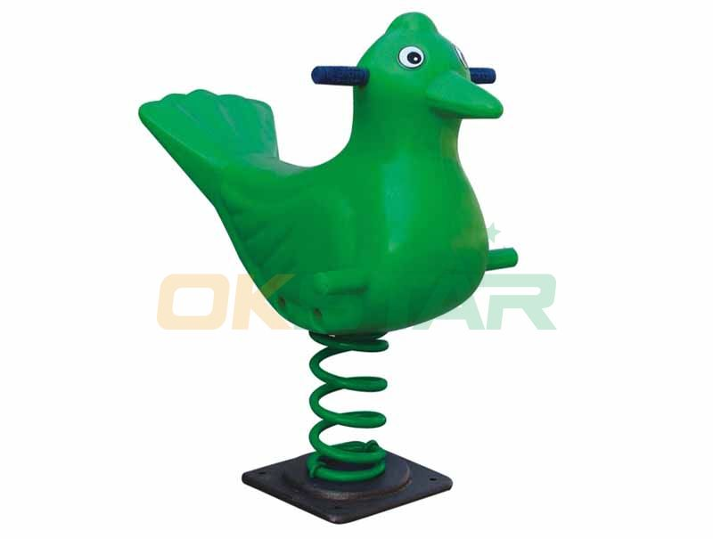cool design freestanding animal spring rider for school playground