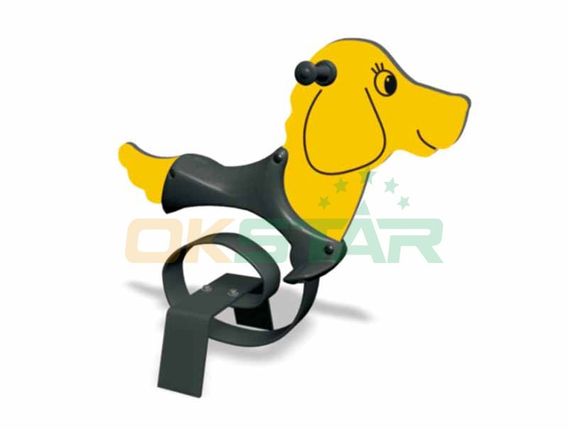 Cute Dog Spring Rider for Commercial playground
